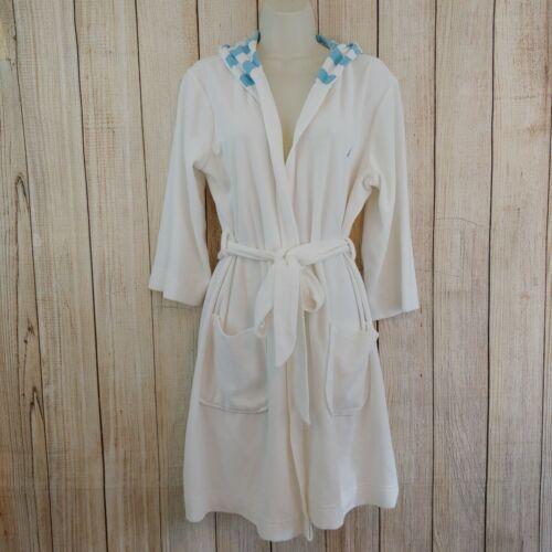 Womens Nautica Sleepware White Terry Cloth hooded