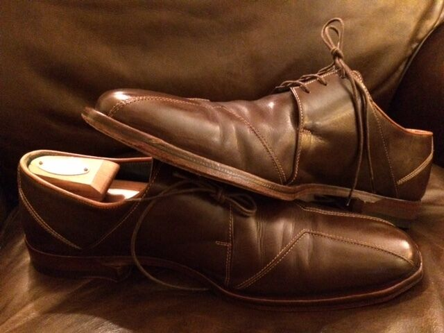 Oliver Sweeney Leather Oxfords Doubles Lace Up  US 10.5 Scarpe classiche da uomo