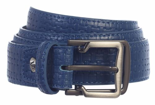 BELT Gift/_Men/'s Premium Handmade Genuine Leather Pattern Embossed/_Dark Olive