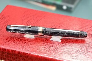 Plume-Stylo-Omas-Gray-1991-Celluloid-Neuf-dans-Boite-Taille-M