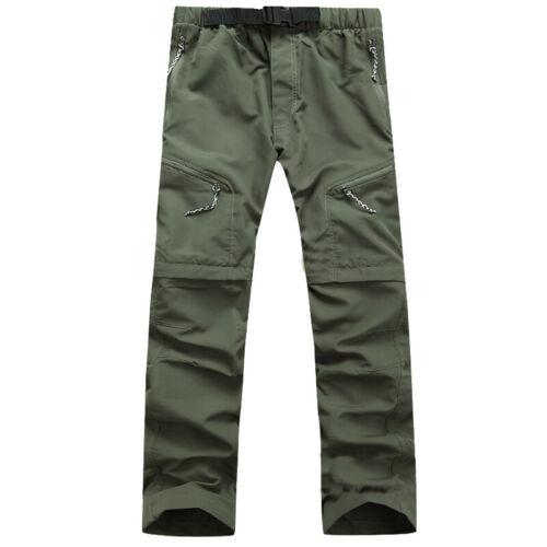 Mens Quick Dry Convertible Cargo Pants Outdoor Climbing Hiking Tactical Trousers