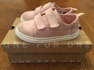 TOMS Girls Lenny Sneakers Shoes - Pink