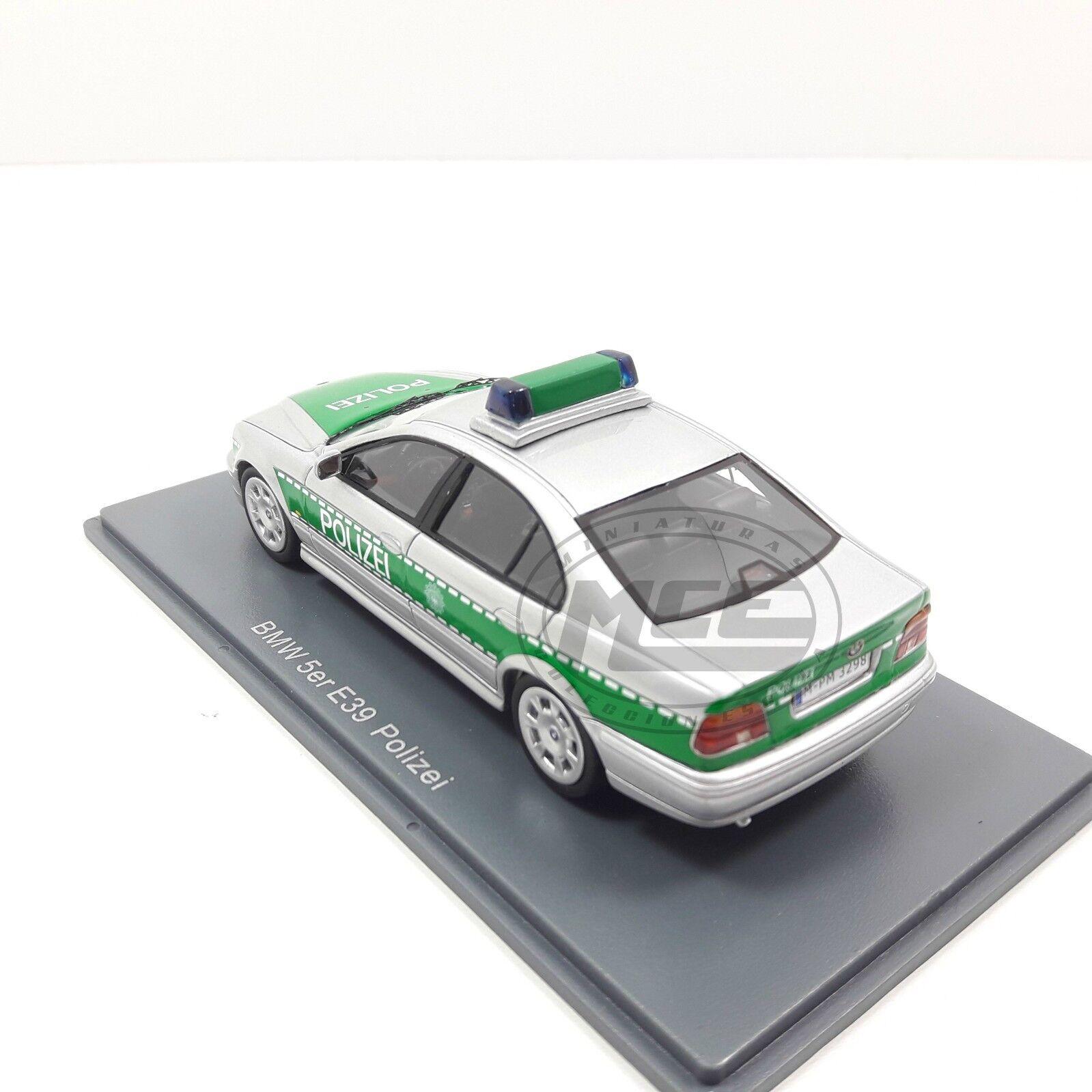1 43 BMW 530i (E39) silver green POLICE GERMANY GERMANY GERMANY POLICIA ALEMANIA NEO 120f94