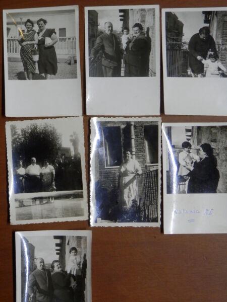 Abile Lotto Di Vecchie Fotografia Di Catania 1955 Case Popolari ? Famiglia Bambini Del Brividi E Dolori