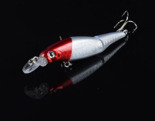 8PCS Two Sections Minnow Fishing Bait Crankbaits Hard Wobblers Lures Fishing Tac