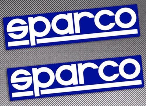 2 x Original SPARCO Vinyl Stickers 15cmx4cm Motorsport Car Race Rally Mudflaps