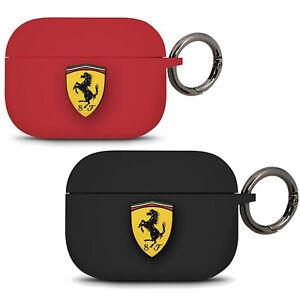 Custodia-cover-silicone-ORIGINALE-FERRARI-anello-metallo-per-Apple-Airpods-Pro