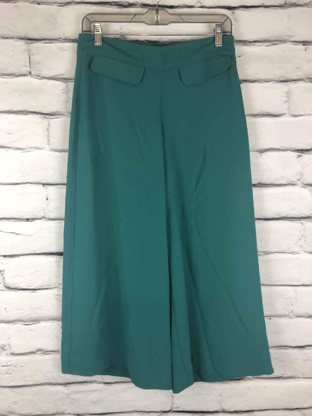 Trina Turk Womens Teal Size 12 Gaucho Pants  - image 1
