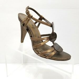 3e0b10dd589 Image is loading Kenneth-Cole-Reaction-Know-Love-Bronze-Leather-Strappy-