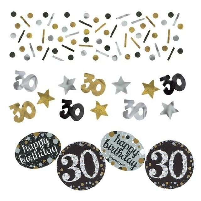Balloons Decorations Gold Sparkle 30th Birthday Party Supplies Tableware