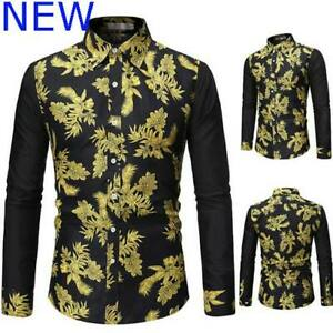 Top-Floral-Luxury-Mens-Shirt-Dress-Shirts-Slim-Fit-Stylish-Long-Sleeve-Casual