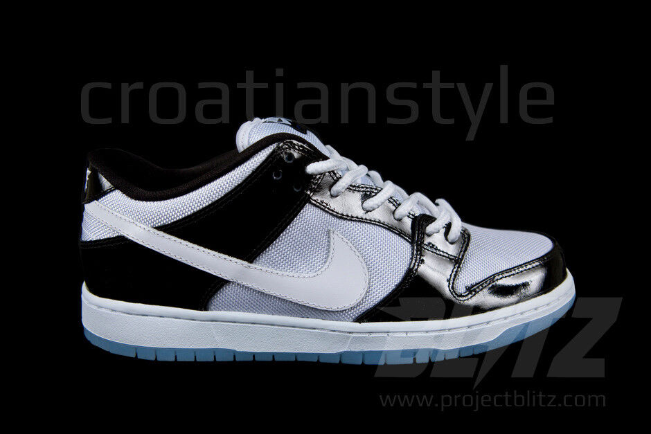 2012 Nike Dunk Low Pro SB CONCORD Sz 7-11 BLACK WHITE ICE 304292-043