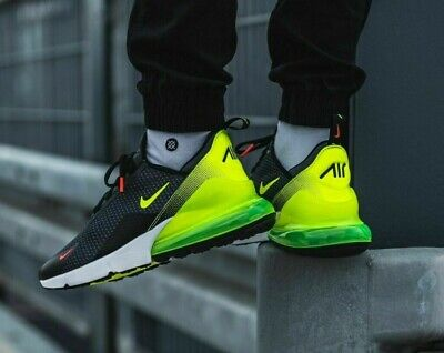 Nike AIR MAX 270 Sneaker Uomo Nero Verde Fluorescente Volt Yell Bianco Tutte le Taglie | eBay