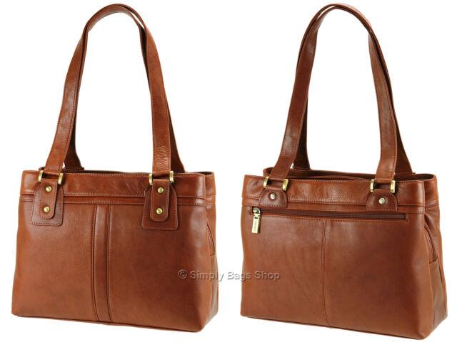 Two Strap Soft Real Leather Handbag