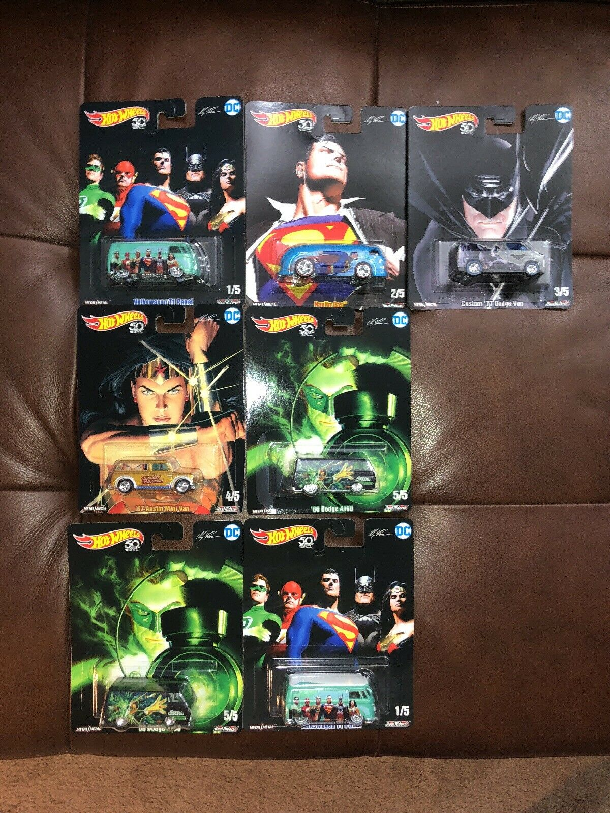 DC Comics 5 Car Set Alex Ross 2018 Hot Wheels Pop Culture Plus 2 Extra  Lot of 7
