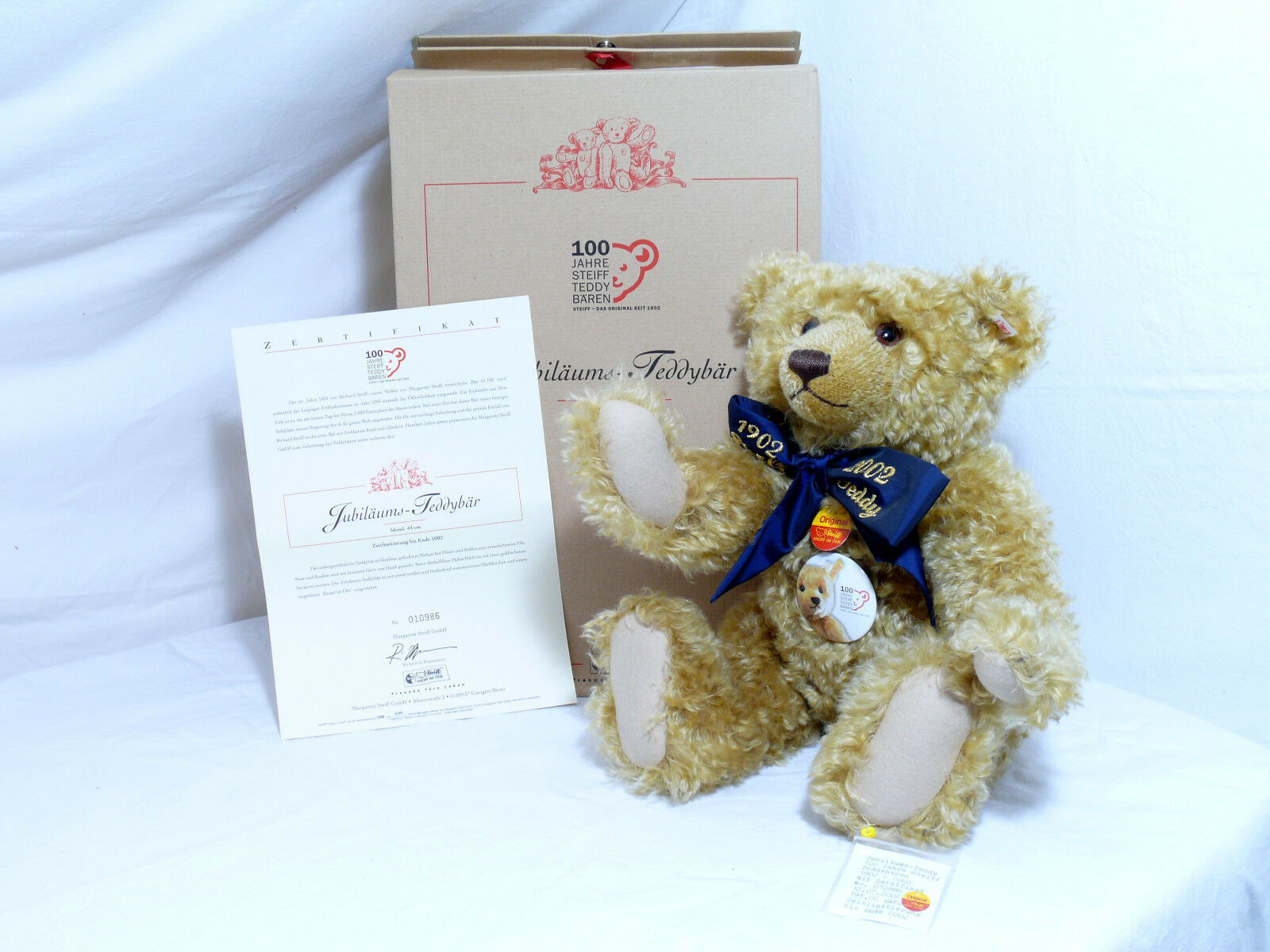 Steiff 670985 Teddy Bear 100 Jahre Steiff Teddy Bears 44 cm with Voice Boxed