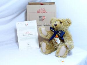 Pelouche-670985-Ourson-en-Peluche-100-Jahre-Ours-Teddy-44-cm-avec-Voix-Emballage