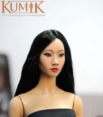 KUMIK 1//6 Female Head Sculpt KM13-13 Head Carving Fit 12/'/' Body Action Figure