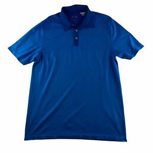 Adidas Climacool Men's Size Large Short Sleeve Performance Polo Shirt Light Blue