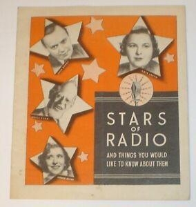 Vintage 1930's Miles  Laboratories Stars of Radio Advertising Booklet Pick & Pat