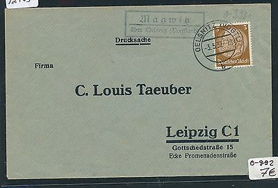 Dr > Ddr Landpost Ra2 Magwitz über Oelsnitz Zielsetzung 92703 vogtland Ds 1937