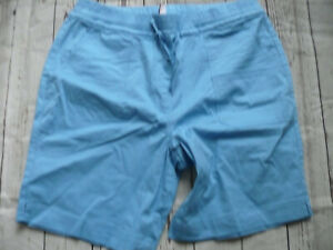 Sheego-Trousers-Bermuda-Shorts-Light-Blue-Tone-Ladies-Size-44-to-52-954