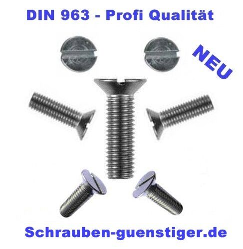 DIN 963 Senkschraube mit Schlitz M 5 x 40 Kunststoff blank