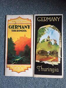 Vintage German Travel Brochures Map Guide History Thuringia Hitler
