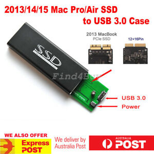 2013/14/15 MacBook Pro Air 12 16 Pins SSD to USB 3.0 Converter Adapter Case