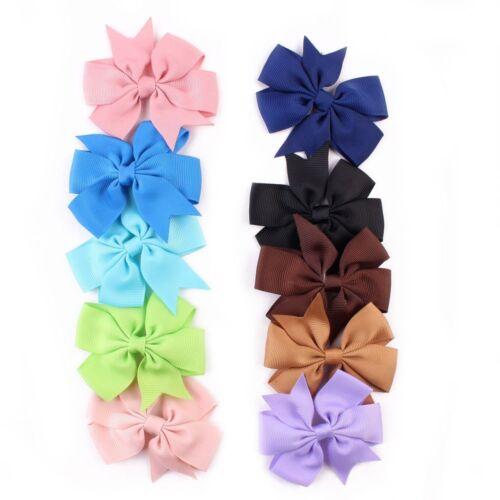 20PC Girl Baby Bow Hair Clip Accessories Grosgrain Ribbon Bowknot Hairpin