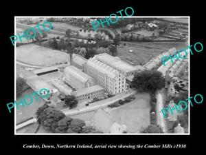 OLD-LARGE-HISTORIC-PHOTO-COMBER-NORTHERN-IRELAND-AERIAL-VIEW-OF-THE-MILLS-c1930