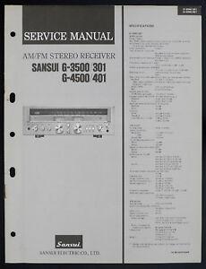 Sansui-G-3500-301-G-4500-401-Original-AM-FM-Stereo-Receiver-Service-Manual-O152