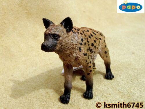 Nuevo * Papo manchado Hiena juguete de plástico sólido Wild Zoo Animal Africano