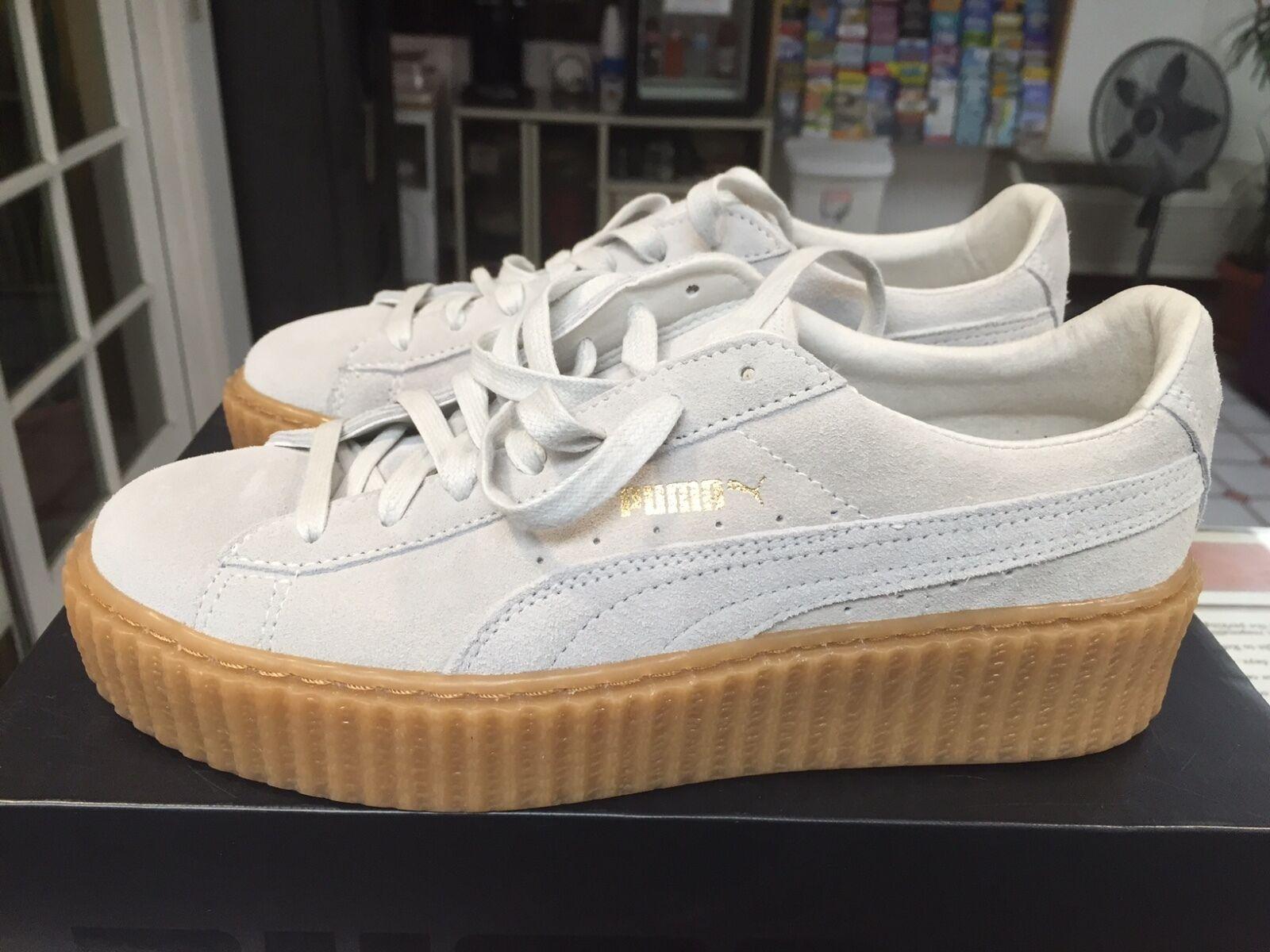 Puma X Rihanna Suede Creeper Sneaker White Womens Star White Oatmeal 361005 06