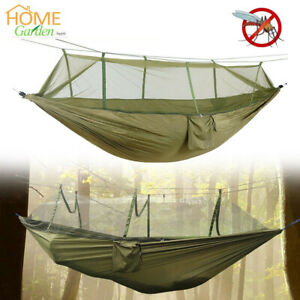 Double Person Hammock w/ Mosquito Net Portable Camping Hiking Swing Hanging Bed