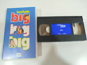BIG-TOM-HANKS-PENNY-MARSHALL-VHS-Cinta-Espanol-2T