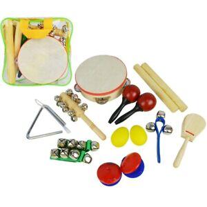 Capable A-star Childrens Portatif Instrument De Musique Rythme Percussion Set Avec Sac-afficher Le Titre D'origine