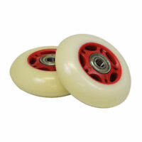 White Wheel Red Hub 76 Mm Wheels For The Razor Riprider (set Of 2)