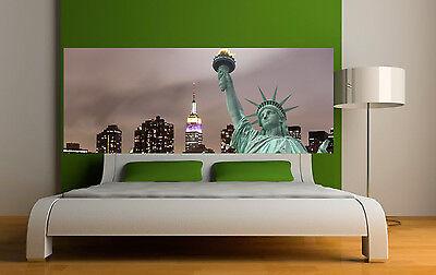 Sticker tête de lit décoration murale Statue de la liberté réf 3615