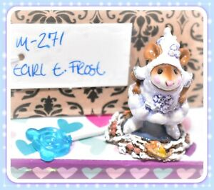 Wee-Forest-Folk-M-271-Earl-E-Frost-Snowflake-Lavender-Winter-Retired-Mouse