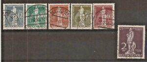 GERMANY BERLIN SG B54/60, 1949 UPU SET (ex 1Dm) SCHLEGEL BPP F/U (2 scans).