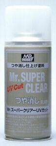 Mr. Hobby B-523 Mr. Super Clear UV Cut Flat Spray