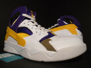 Details about NIKE AIR FLIGHT HUARACHE KOBE BRYANT LA LAKERS WHITE GOLD PURPLE 705005 101 10.5