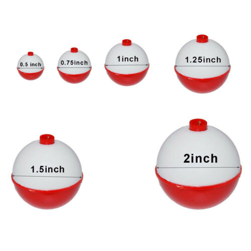"0.5/""-2/"" Fishing Floats Bobbers Snap-On Buoy Float Tackle Ball Sea Fishing Bobber"