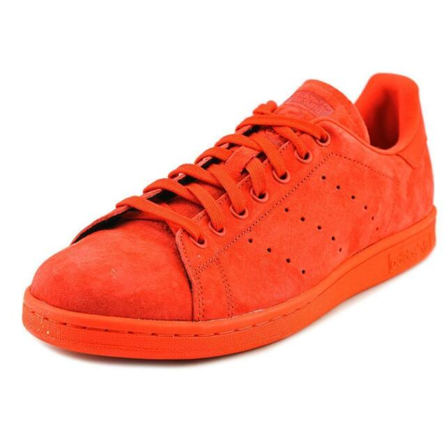adidas Mens 13 Stan Smith S75109 Red Suede Lifestyle Casual Shoes ... 944723f3a12a
