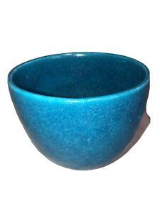 Signed-PV-France-Studio-Art-Pottery-Egyptian-Blue-Bowl-Raoul-Lachenal-1885-1965