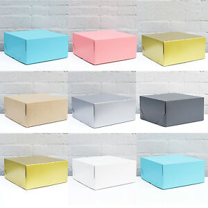 12x12x5-034-x1-pc-SQUARE-GIFT-BOX-Cake-Christmas-Hamper-Party-choose-colour