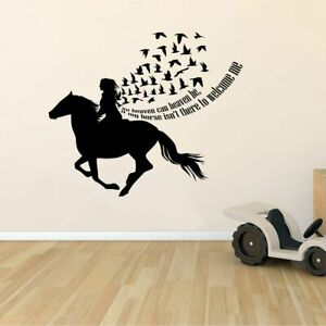 Heaven Horse Motivation Quote Vinyl Wall Art Decor Sticker for Home Room Decals