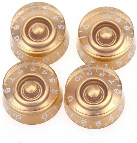 Gold Knobs Imperial Inch Size Control Speed for USA Les Paul Electric Guitar