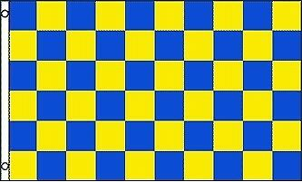 10 Swooper Flutter Flags WINDSHIELD REPAIRS Checkered Yellow Blue Black